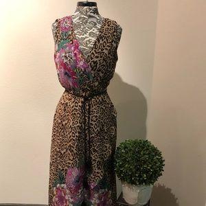 INC Animal Print High-Low Maxi Dress